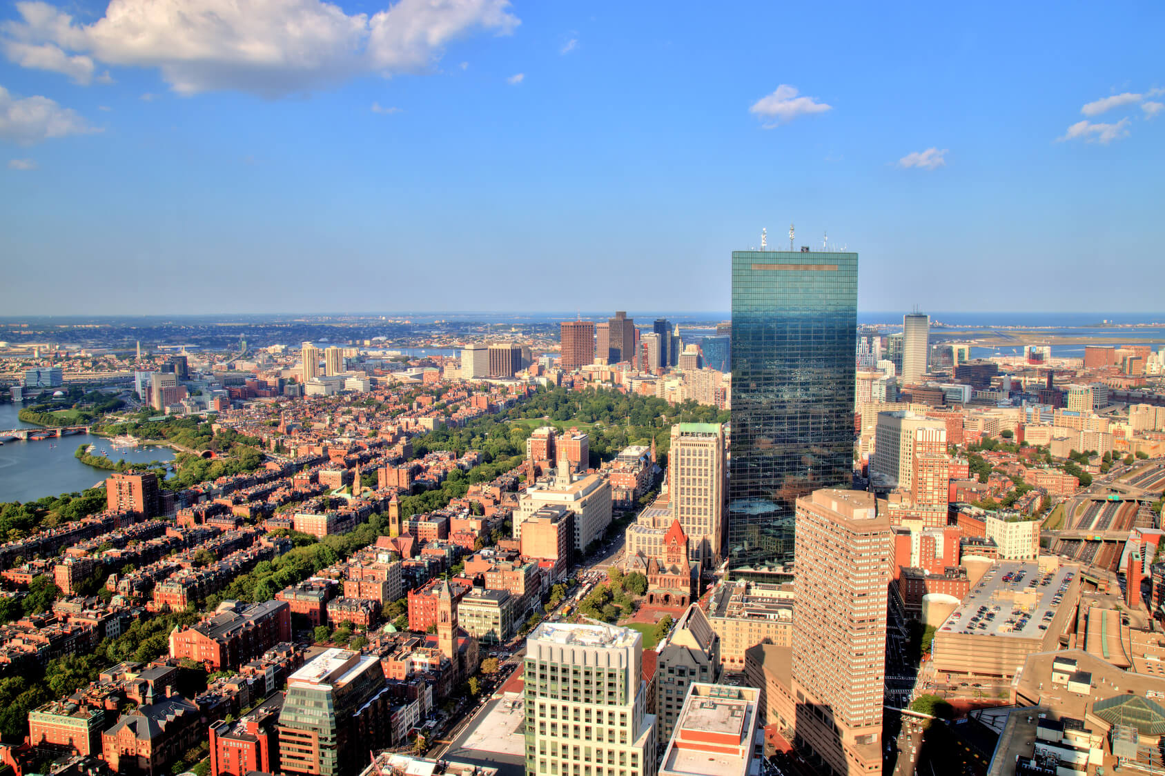 Keywords: Boston, Aerial, View, City, Skyline, Usa, Urban, Massachusetts, America, Panorama, Downtown, Architecture, New, Building, Landmark, Cityscape, England, Metropolis, Sunny, Blue, Cloudy, Cloudy, Street, Sky, Highway, Blue, Modern, Office, Skyscraper, Panoramic, Hancock, Travel, Historic, United, States, Sightseeing, Dusk, Light, Car, Panorama, Sunlight, Day