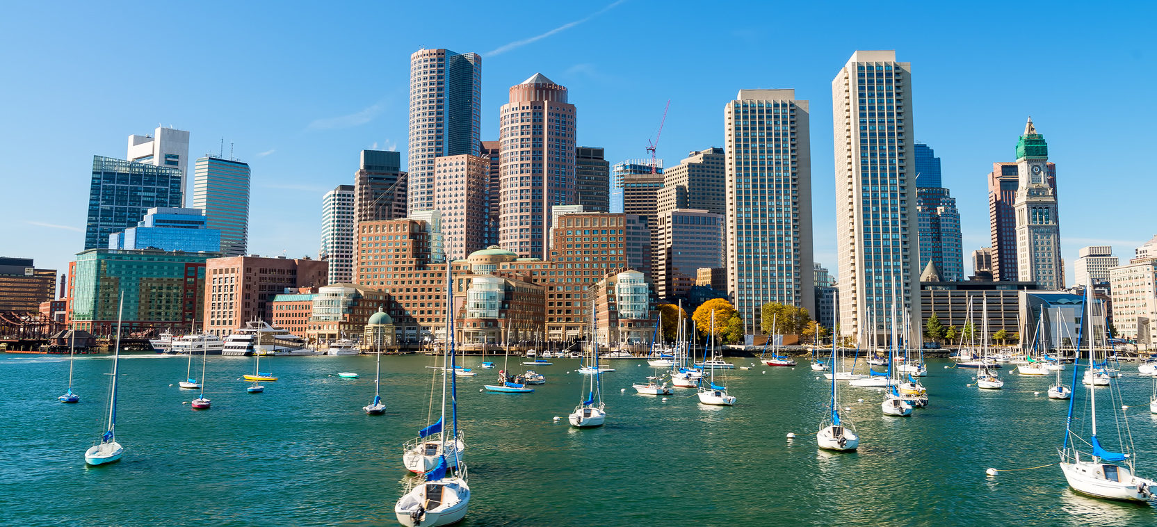 Boston, Massachusetts. Beautiful City Skyline.