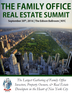 Notes To The Family Office Real Estate Summit